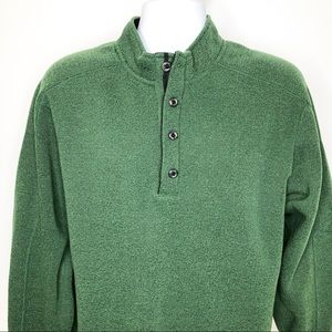 Exofficio forest green 1/4 snap pullover sweater